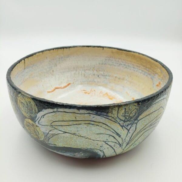 Keramikskål med motiv
