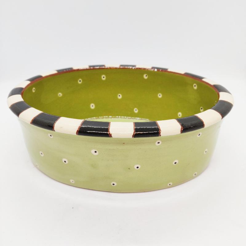 Olivenskål, grøn i keramik af Asse Due