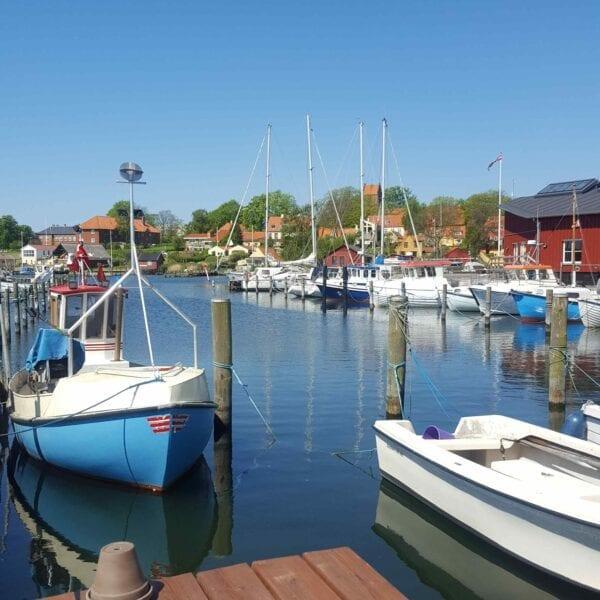 Havnen i Skælskør en sommerdag
