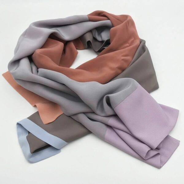 Silketørklæde i flere farver